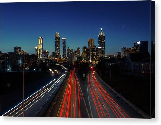 Atlanta Skyline 1 Canvas Print
