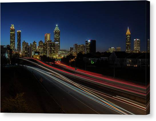 Atlanta Skyline 2 Canvas Print