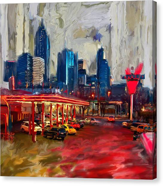 Dallas Skyline Canvas Print - Atlanta Skyline 231 1 by Mawra Tahreem