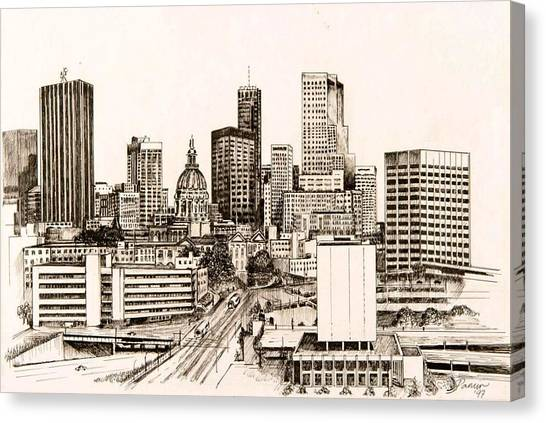 Atlanta Skyline Canvas Print by Pamir Thompson