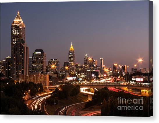 Atlanta Skyline - Scad Canvas Print
