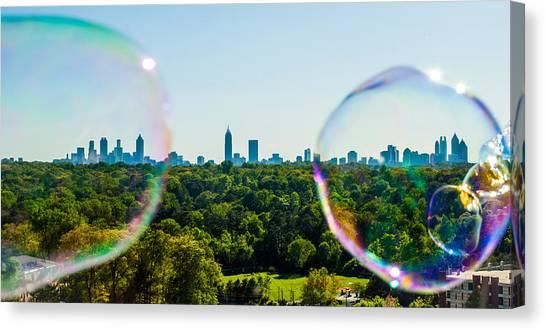 Emory University Canvas Print - Atlanta Skyline by Vanessa Burrowes