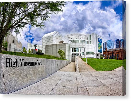 Canvas Print featuring the photograph Atlanta's High Museum by Mark E Tisdale