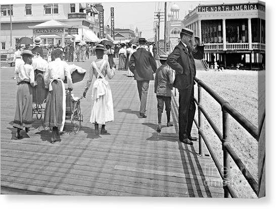 Atlantic City Boardwalk 1902 Canvas Print