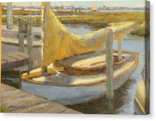 Atlantic City Cat Boat Canvas Print by Marianne Kuhn