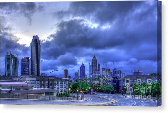 Emory University Canvas Print - Atlantic Station Before Sunrise Midtown Cityscape Art by Reid Callaway