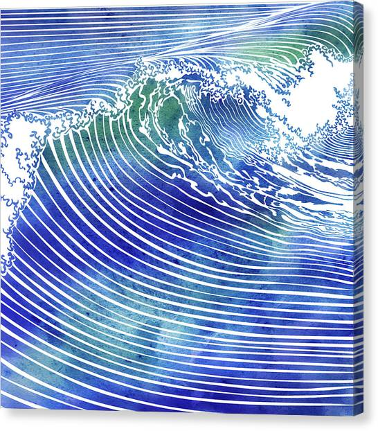 Atlantic Waves Canvas Print