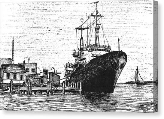 Atlantis II At Old Pier Canvas Print