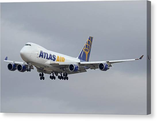 Atlas Air Boeing 747-47uf N415mc Phoenix Sky Harbor December 23 2015  Canvas Print