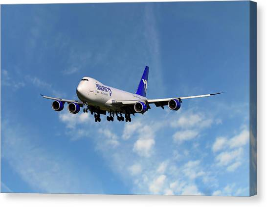 Airlines Canvas Print - Atlas Air Boeing 747-87u by Smart Aviation