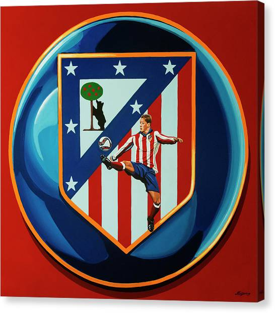 Goal Canvas Print - Atletico Madrid Painting by Paul Meijering