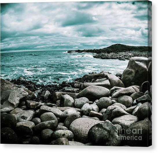 Tides Canvas Print - Atmosphere In A Looming Sea Storm by Jorgo Photography - Wall Art Gallery