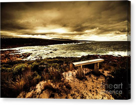 Hurricanes Canvas Print - Atmospheric Beach Artwork by Jorgo Photography - Wall Art Gallery