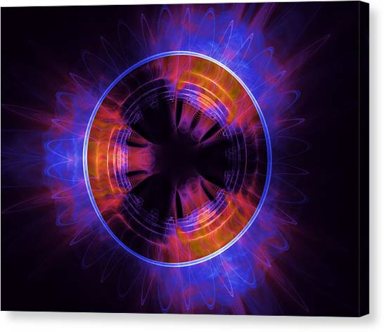 atmospheric Burner with Gas Flames Canvas Print