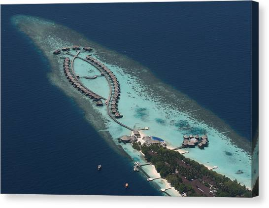 Atolls From The Air Canvas Print