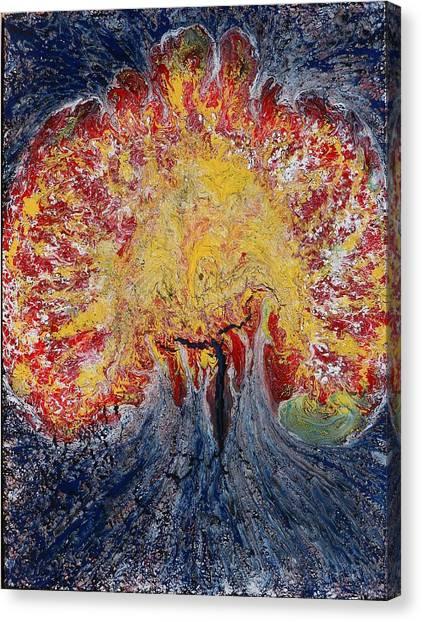 Atomic Night Canvas Print