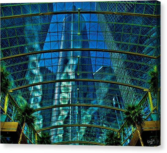Atrium Gm Building Detroit Canvas Print