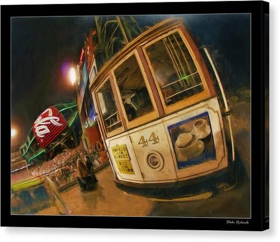 Att Park At Night Canvas Print
