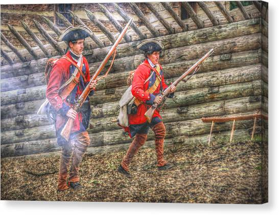 Attack On Fort Ligoner French And Indian War Canvas Print by Randy Steele