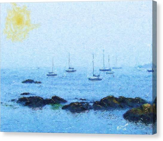 Attente Pour La Brise Canvas Print by Eddie Durrett
