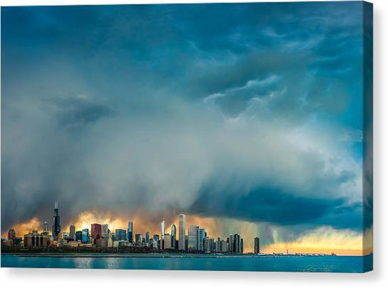 Clouds Canvas Print - Attention Seeking Clouds by Cory Dewald