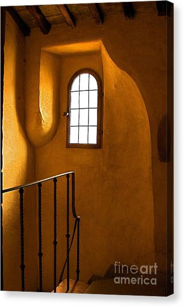 Attic Stairs-fiesole St.francis Monastery Canvas Print