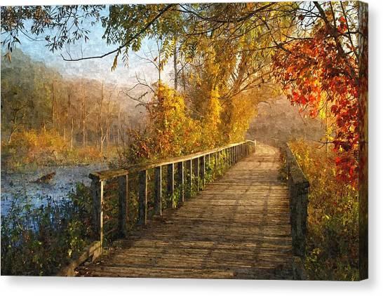 Atumn Emerging - Oil Paint Effect Canvas Print
