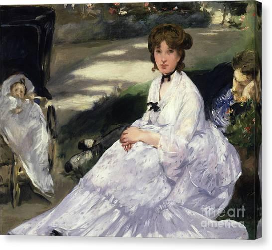 Jardin Canvas Print - Au Jardin, 1870 by Edouard Manet