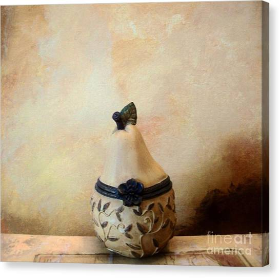 Au Pear Canvas Print by Marsha Heiken