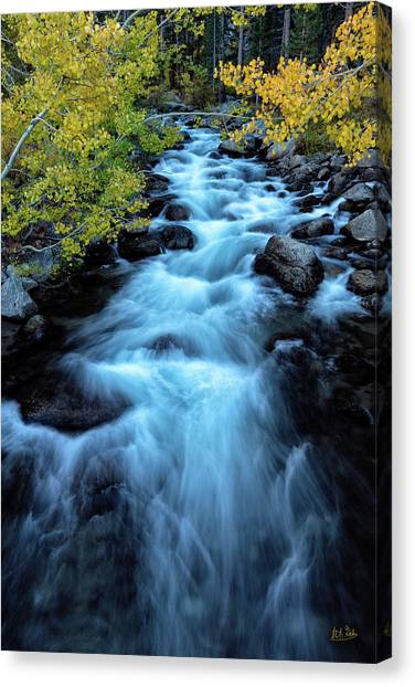Canvas Print featuring the photograph Auatumn On Bishop Creek II by Stuart Gordon