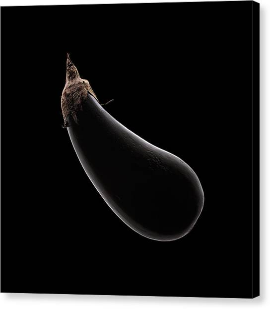 Black Top Canvas Print - Aubergine Still Life by Johan Swanepoel