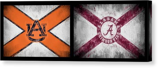 The University Of Alabama Canvas Print - Auburn Alabama House Divided by JC Findley