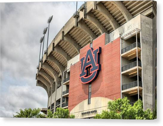 Auburn University Canvas Print - Auburn Football by JC Findley