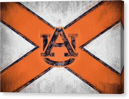 The University Of Alabama Canvas Print - Auburn State Flag by JC Findley
