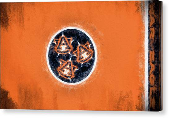 The University Of Tennessee Canvas Print - Auburn Tennessee Flag by JC Findley