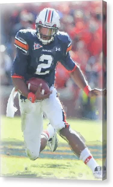 Cam Newton Canvas Print - Auburn Tigers Cam Newton by Joe Hamilton