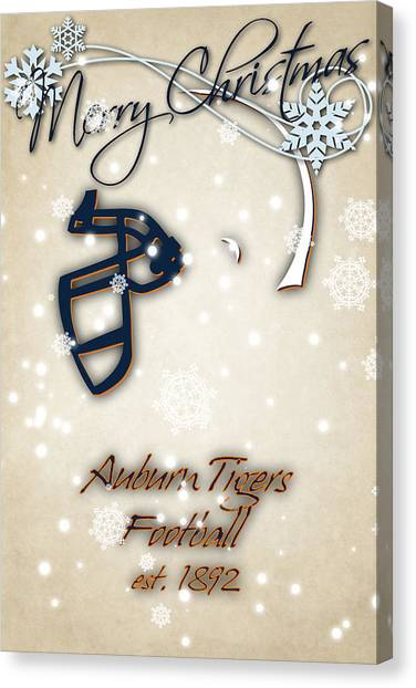 Auburn University Canvas Print - Auburn Tigers Christmas Card 2 by Joe Hamilton