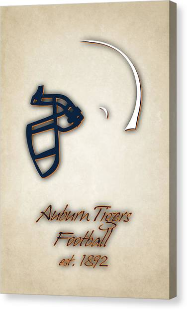 Auburn University Canvas Print - Auburn Tigers Helmet 2 by Joe Hamilton