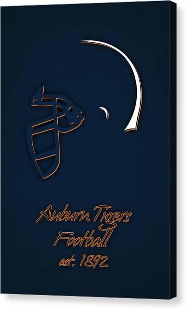 Auburn University Canvas Print - Auburn Tigers Helmet by Joe Hamilton