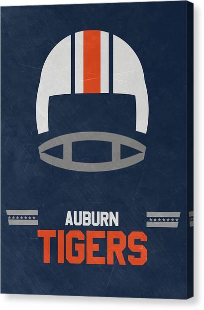 Auburn University Canvas Print - Auburn Tigers Vintage Football Art by Joe Hamilton