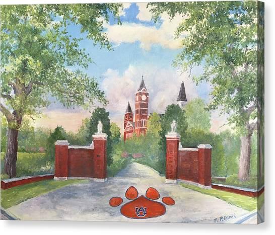 Auburn University Canvas Print - Auburn - Toomer's Corner by ML McCormick