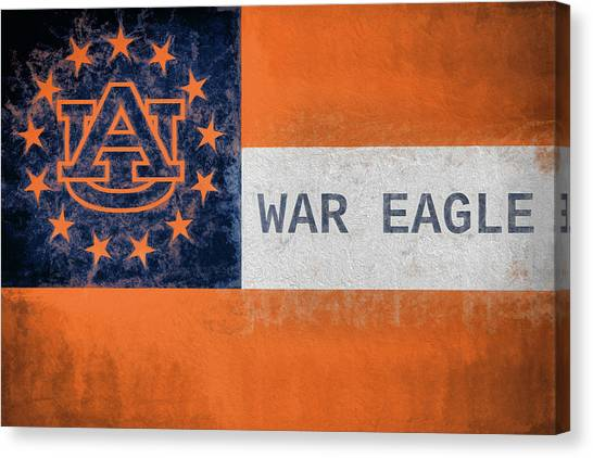 Georgia State University Canvas Print - Auburn University Georgia Flag by JC Findley