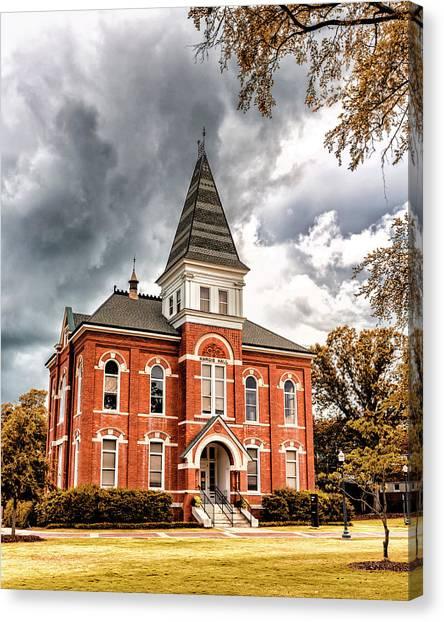 Cam Newton Canvas Print - Auburn University - Hargis Hall by Stephen Stookey