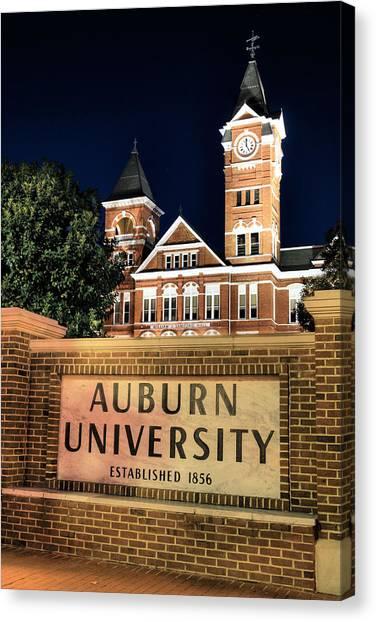 Auburn University Canvas Print - Auburn University by JC Findley