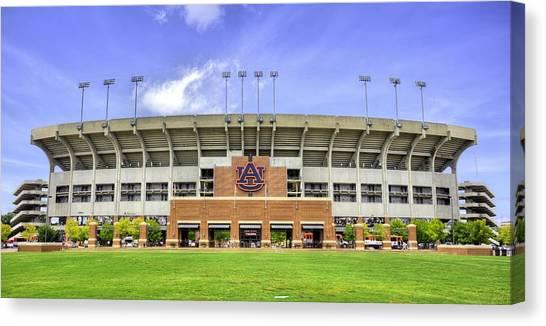 Auburn University Canvas Print - Auburn University Jordan Hare Stadium by JC Findley