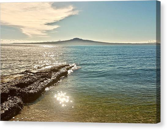 Auckland Harbour On A Winter's Afternoon Canvas Print
