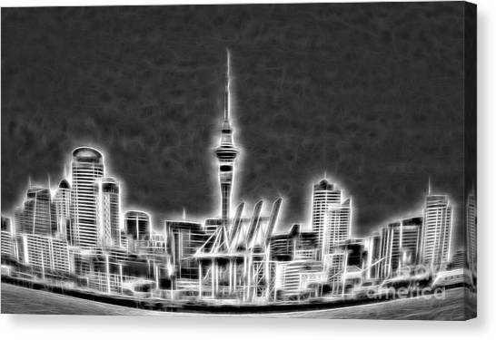 Auckland nz canvas print auckland skyline heavy metal ii by focused onlife