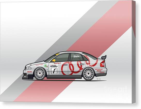 Planet Canvas Print - Audi A4 Quattro B5 Btcc Super Touring by Monkey Crisis On Mars