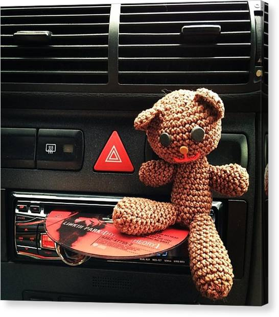 Bears Canvas Print - #audi #audia3 #a3 #bear #linkinpark by Jakub Horsky