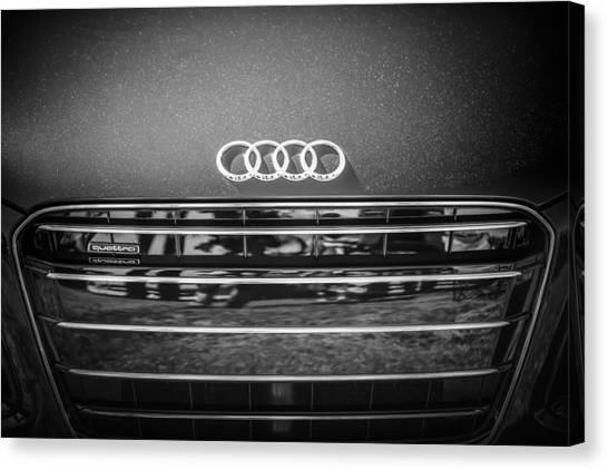 Audi Canvas Print - Audi Grille Emblem -2333bw by Jill Reger